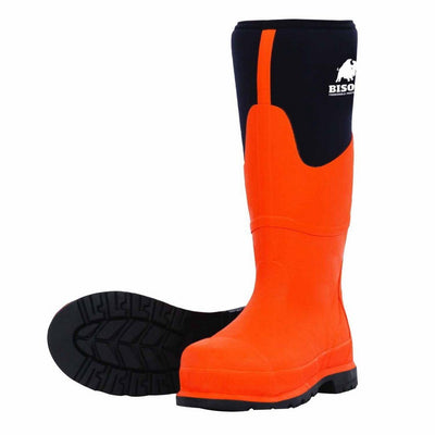 Neoprene Safety Toe Gumboot Orange/Black