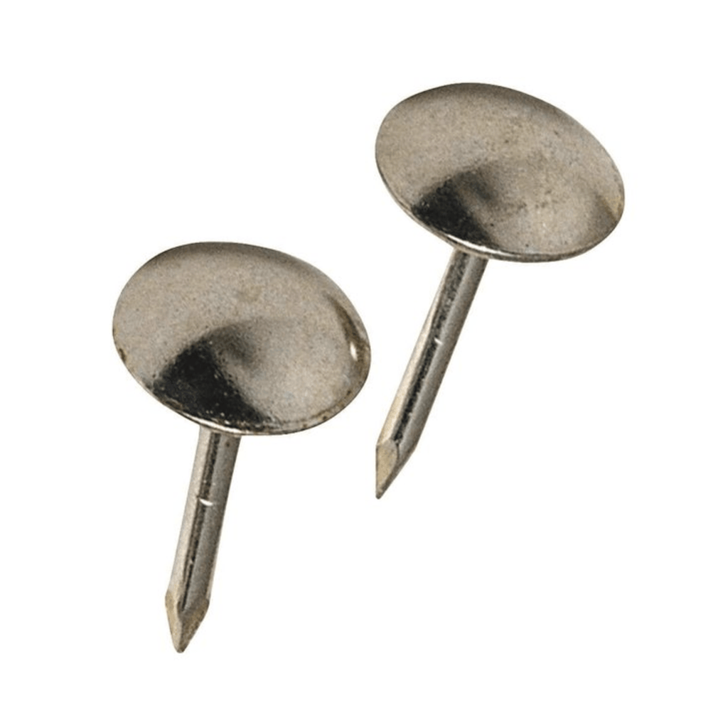 Nickel Plated Round Head Upholstery Pin 35 pack