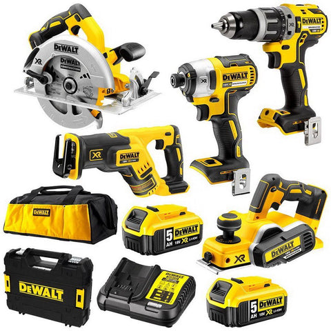 DeWalt|XR Li-Ion Cordless Brushless 5 Piece Combination Kit|18V 5Ah|DCK578P2-XE