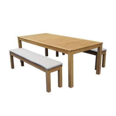 Augustine 3-Piece Outdoor Bench Dinning Setting