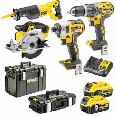 4-Piece 18V 5Ah XR Lithium-Ion Cordless Combo Kit Including Brushless