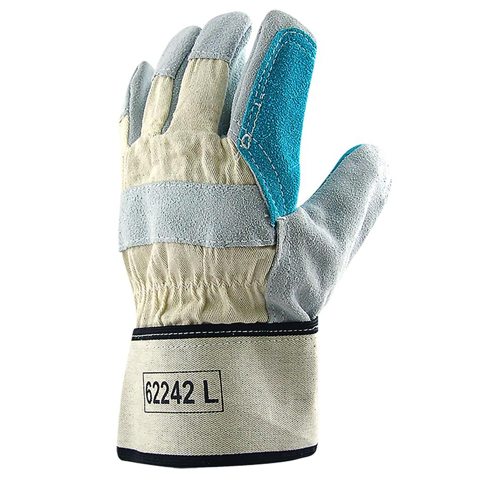 62242 Fox Double Palm Handyman Gloves Canvas/Suede/Leather