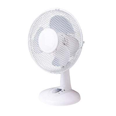 23cm Oscillating Desk Fan White