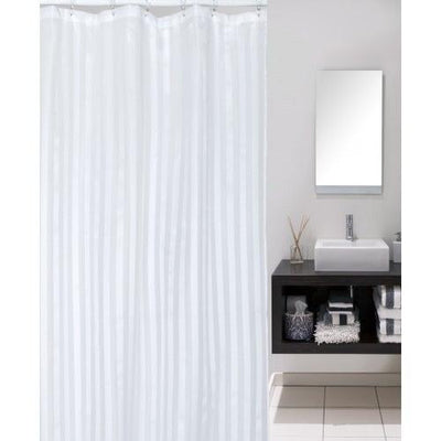 2m Drop x 1.8m Wide Extra Long Waterproof Bath Curtain White
