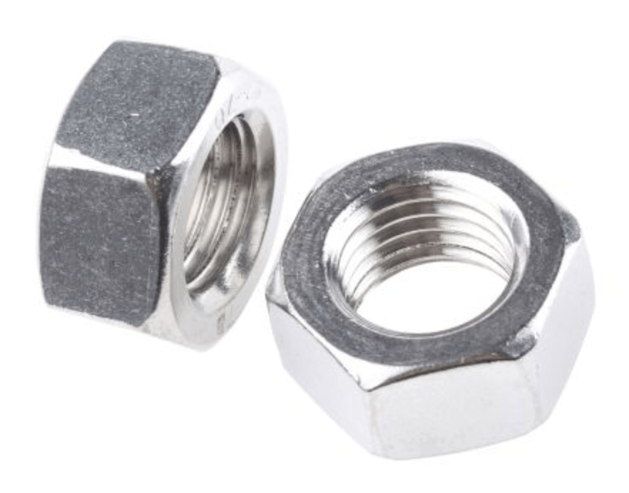 8mm T316 Stainless Steel Hex Nut 5 pack