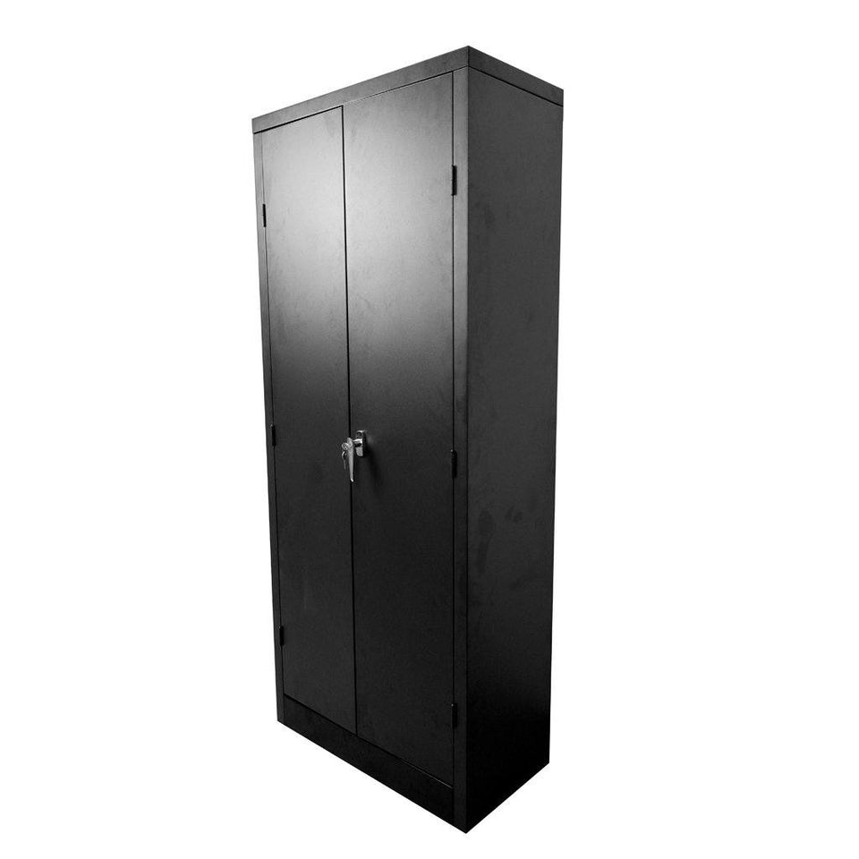 4 Shelf 2 Door Metal Cabinet 50kg 1800 x 760 x 380mm Black