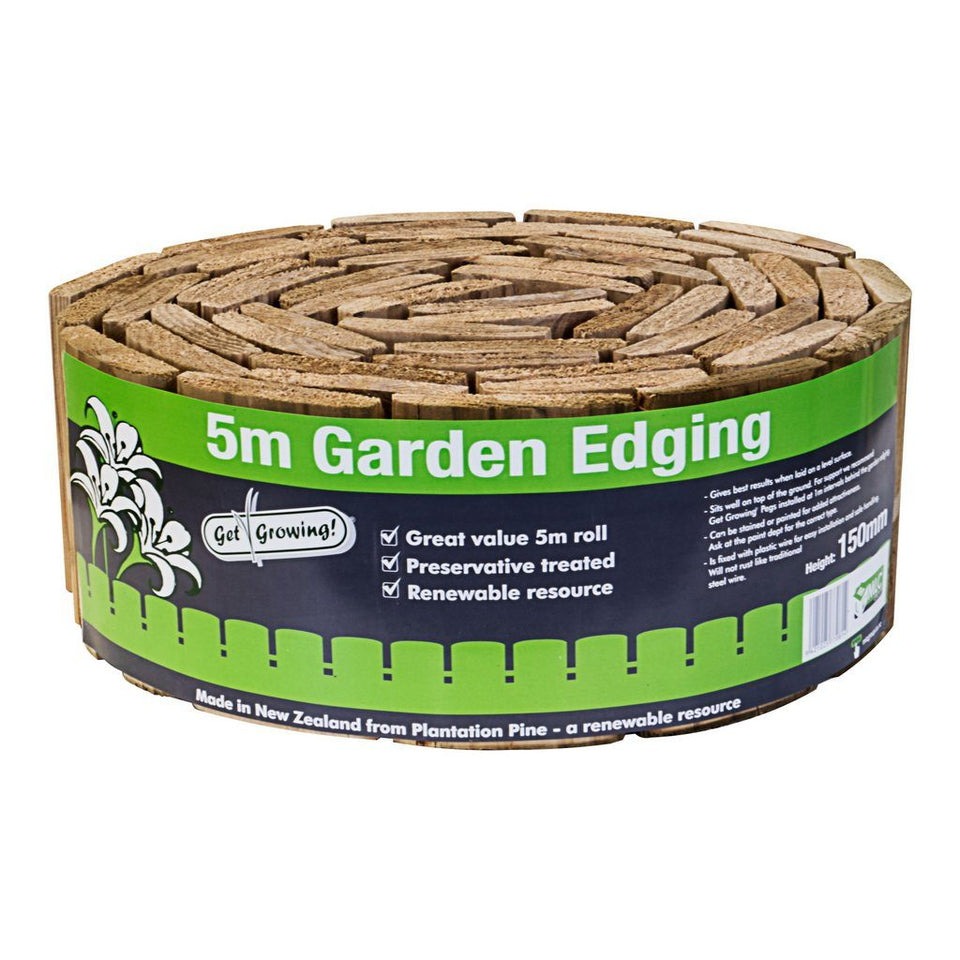 150mm x 5m Wired Garden Edging H3 CCA