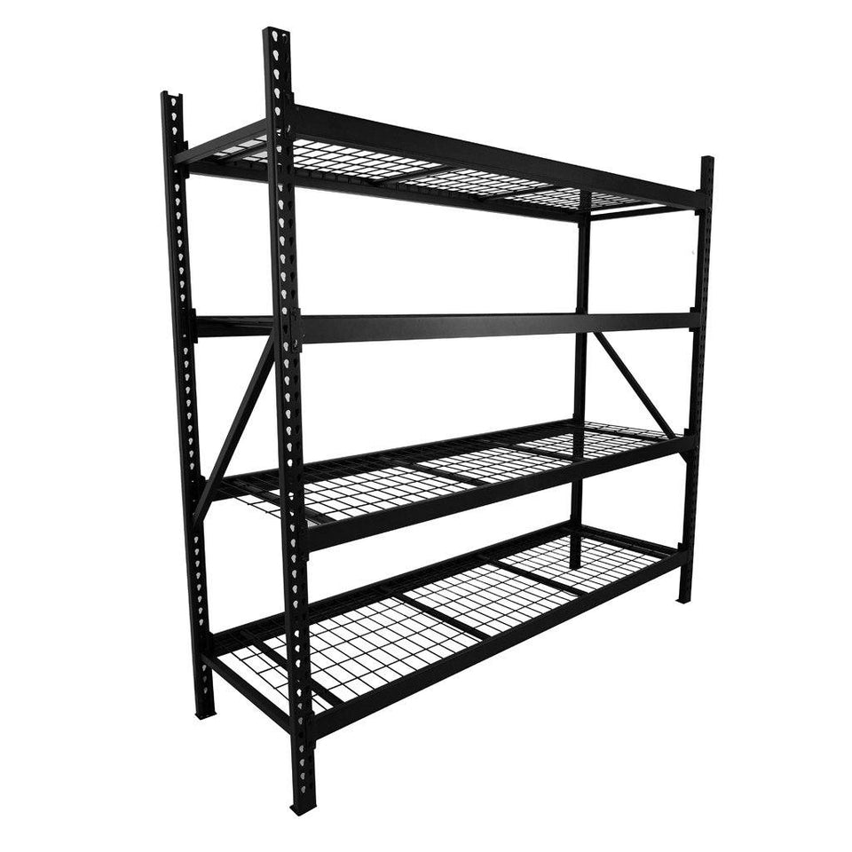 4 Shelf Heavy Duty P-Rack 1830 x 1900 x 610mm Black