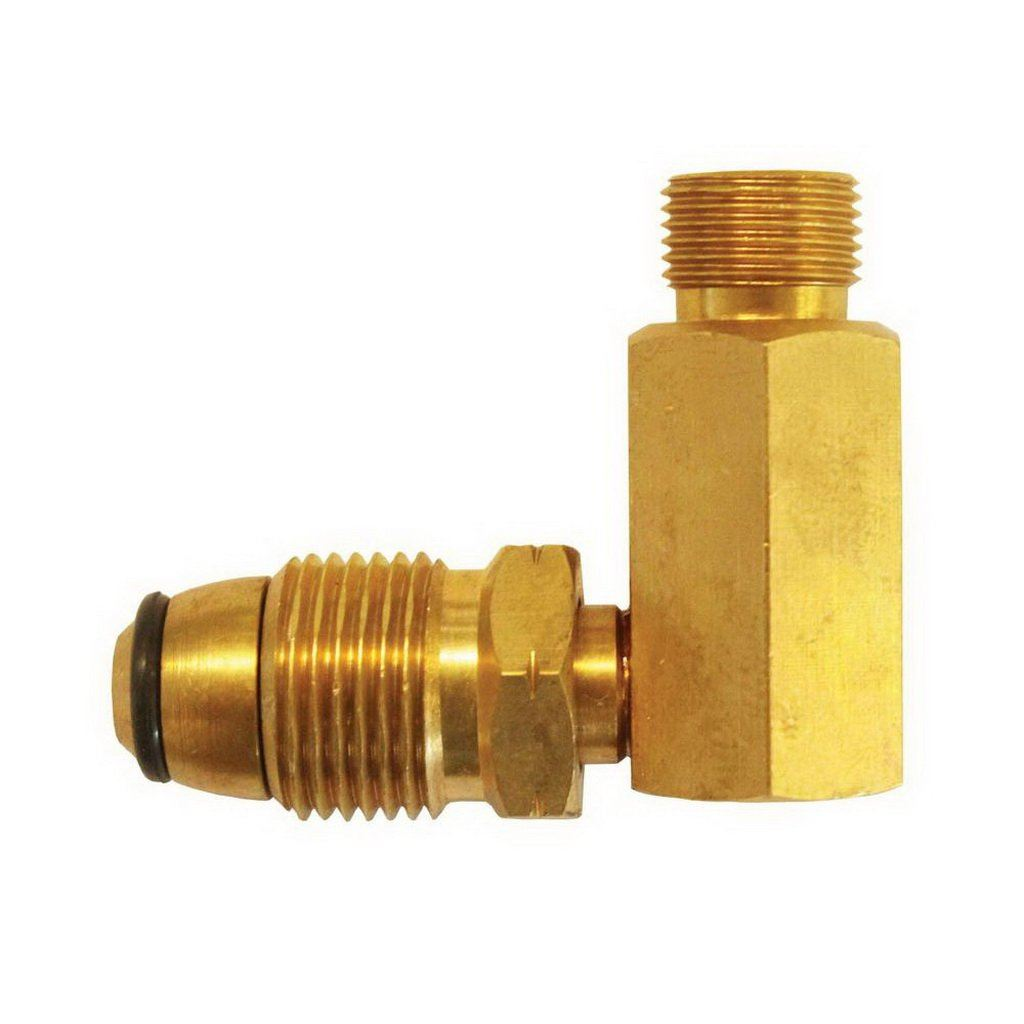 Solid Brass POL to Companion 90 deg Adaptor