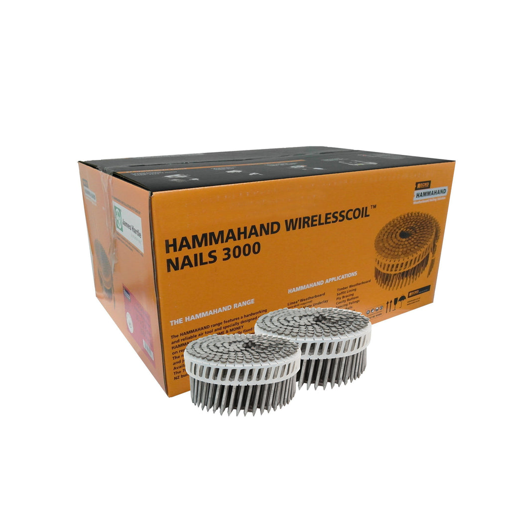 HammaHand 2.8 x 65mm T304 Stainless Steel Round Head Coil Nail 1000 pack