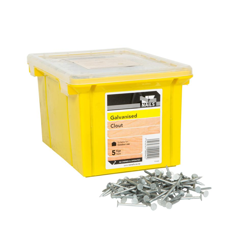 40 x 2.50mm Galvanised Flat Head Clout Nail 5kg