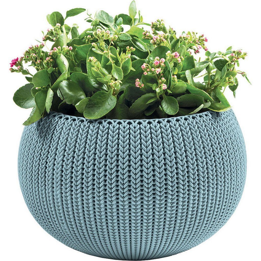 Medium knit Cozie Planter Blue