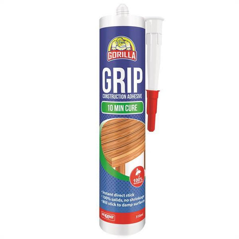310mL Translucent Gorilla Grip 10minute Cure Construction Adhesive