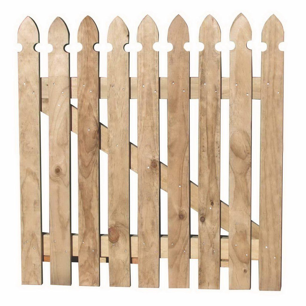 900 x 900mm Small Gothic Fence Picket Gate Treated Pine