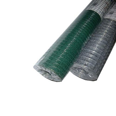5m x 900 x 25mm Plastic Coated Hex Wire Netting Green