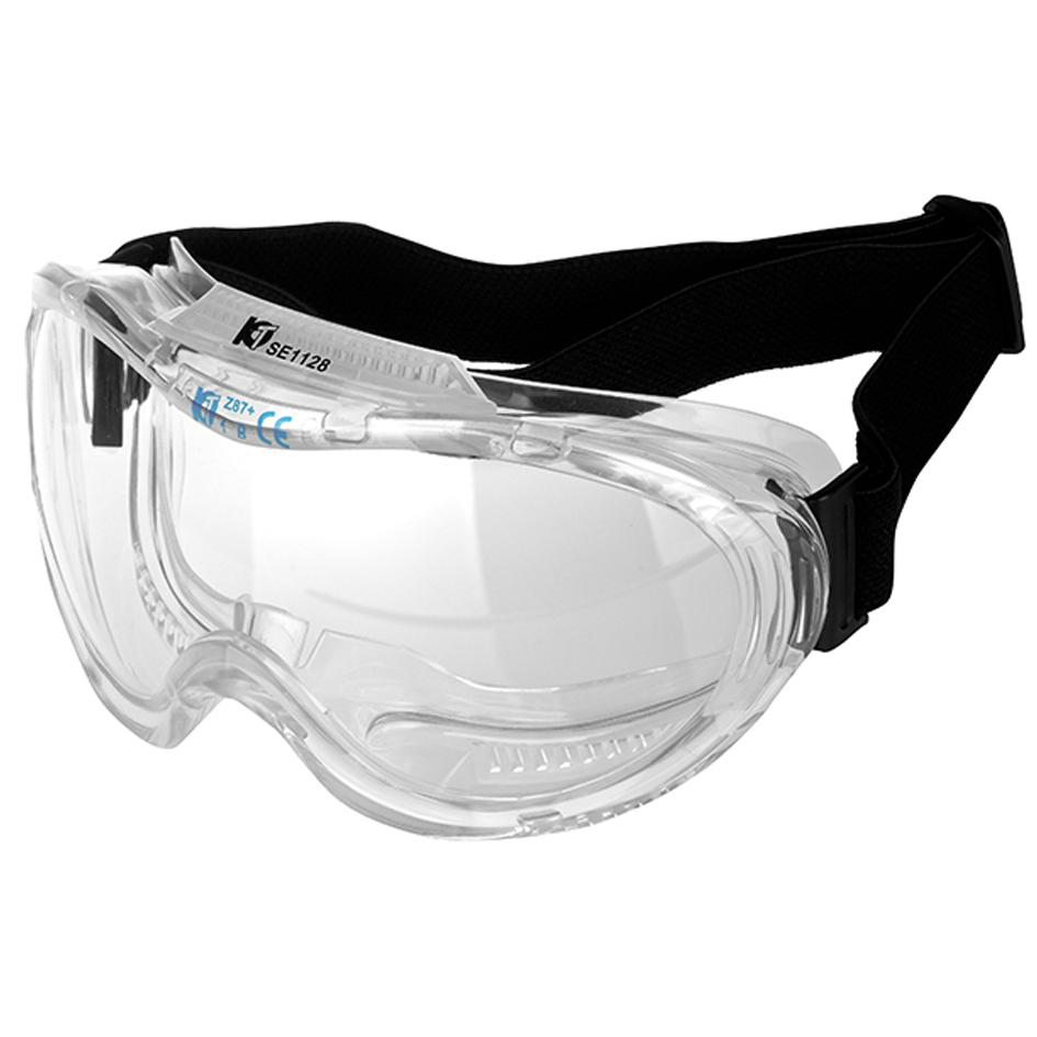 Polycarbonate Premium Anti-Fog Wide Vision Safety Goggles Clear Pair