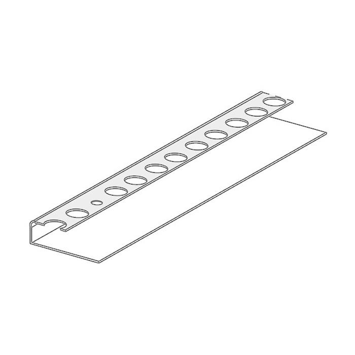 PlasterX MegaGrip 10 x 2400mm Perforated Square Cornered Metal Stopping Bead Galvanized Steel