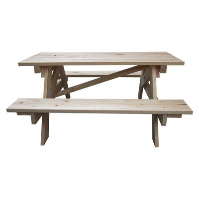 490 x 800 x 900mm Kids Kitset BBQ Table Untreated Pine