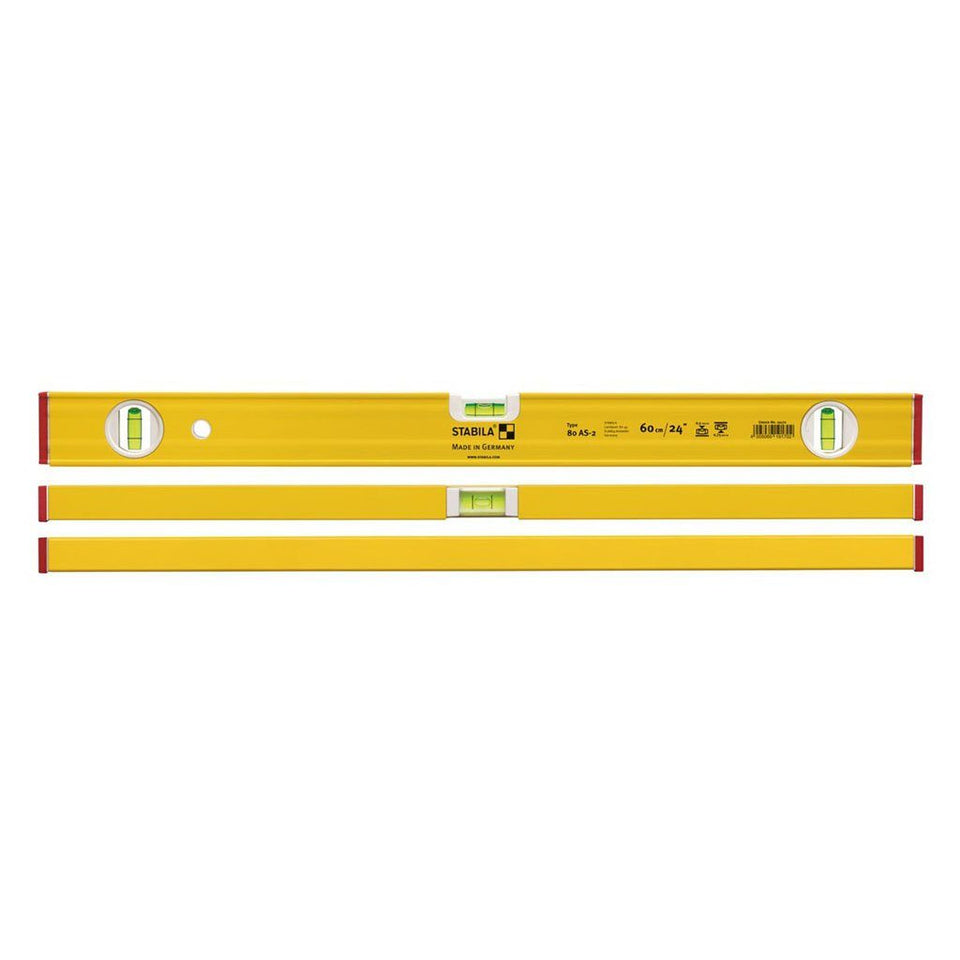 Type 80AS-2 1800mm 3 Vial Aluminium Spirit Level