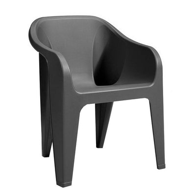 Almeria Stackable Chair Graphite