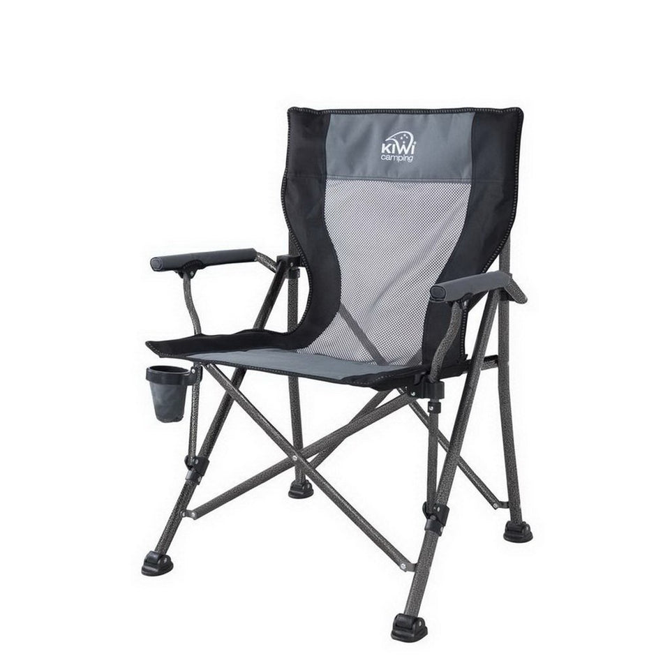 600D Polyester Black/Charcoal Grey Chillax Camping Chair