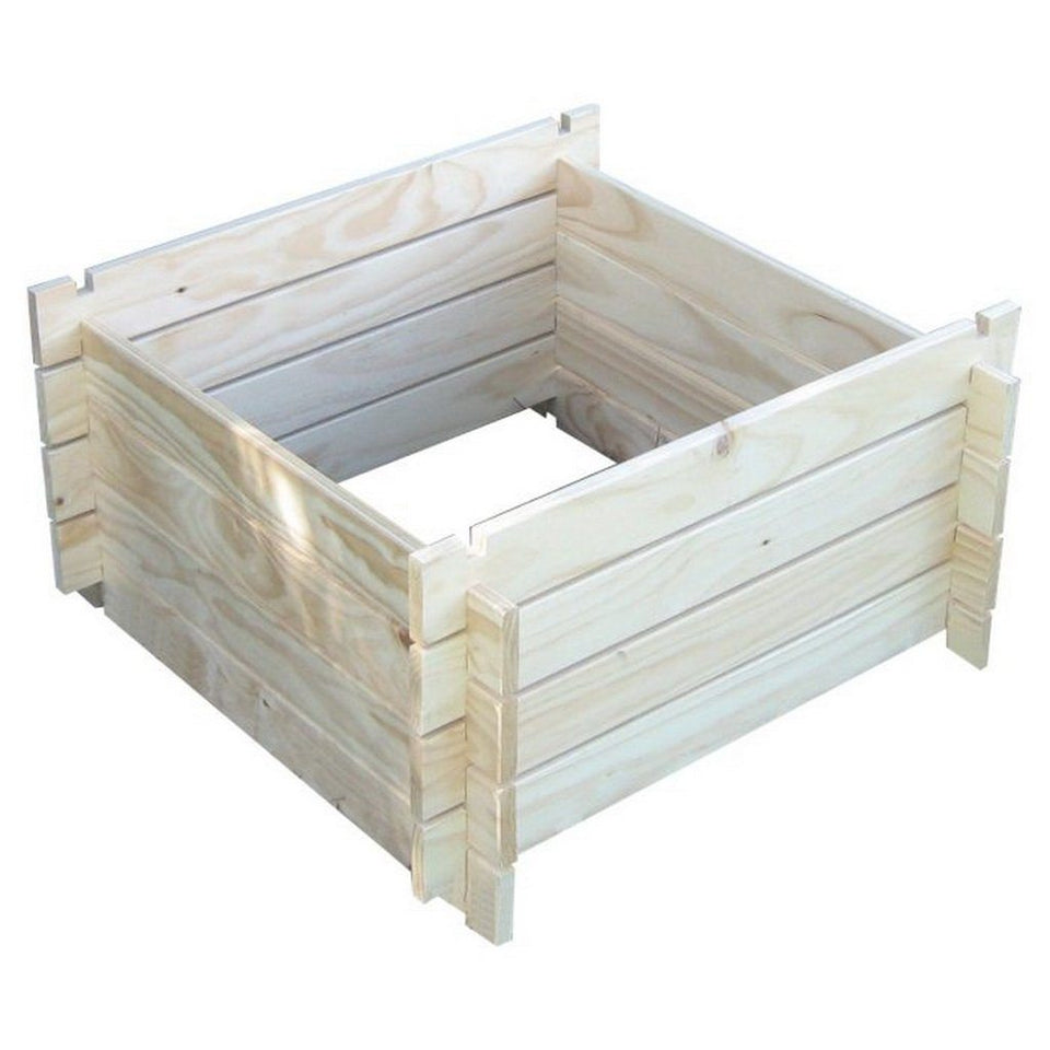800 x 800mm Wooden Compost Bin Kitset Natural