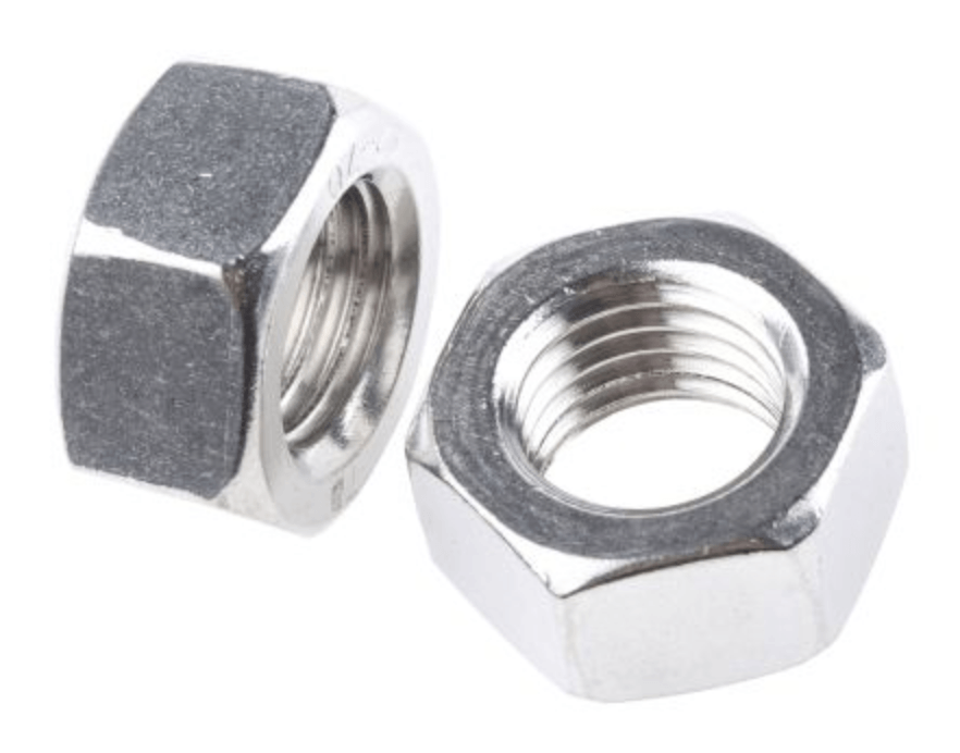 5mm T316 Stainless Steel Hex Nut 10 pack
