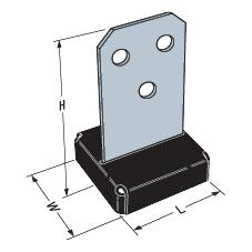90 x 90mm Galvanised Timber Connector Concealed Post Base