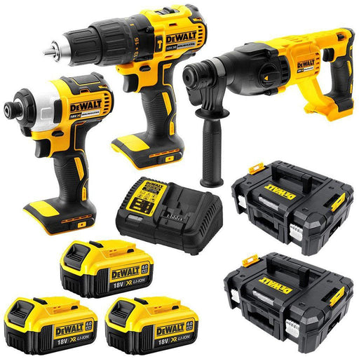 18V 4Ah XR Li-Ion Cordless Brushless 3 Piece Combination Kit