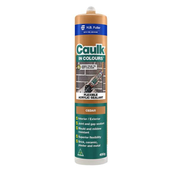 Caulk In Colours 450g Flexible Acrylic Sealant Cedar