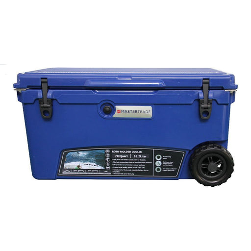 66L Blue Rotomoulding Fishing / Camping / Outdoor Adventures Cooler Box with Wheels