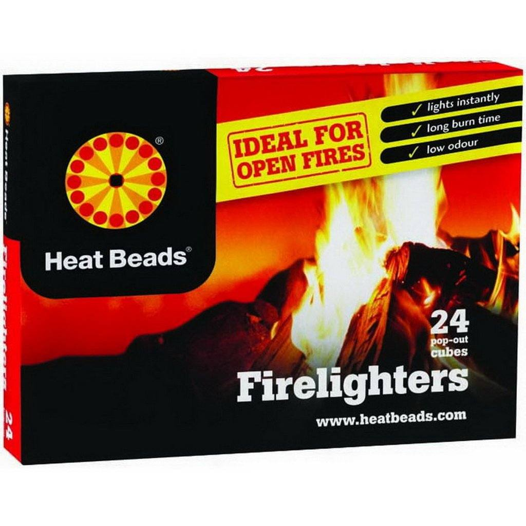 24 pack Heat Beads Natural Firelighters