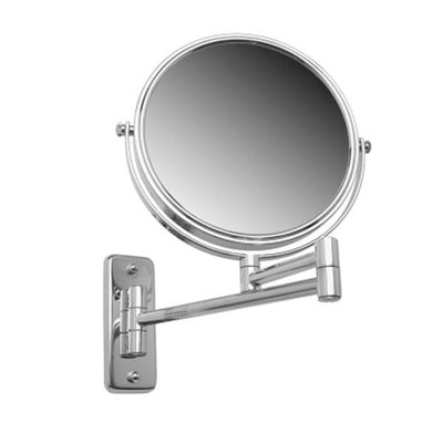 4x Magnification Chrome Plated Steel Wall Mount Reversible Magnifying Mirror