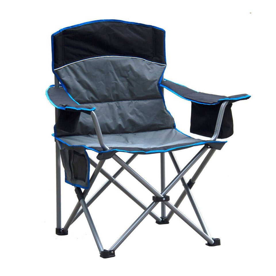 Padded Camping Chair with Cooler and cup holder