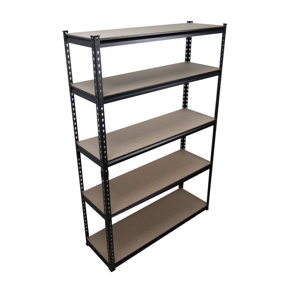 5 Shelf Heavy Duty Shelving 1824 x 1220 x 400mm Black