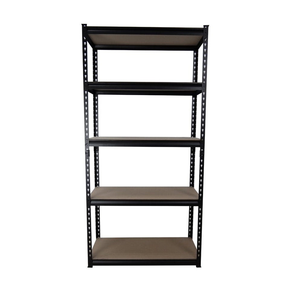 5 Shelf Heavy Duty Shelving 1824 x 900 x 400mm Black