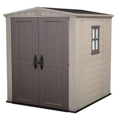 6 x 6ft Factor Garden Shed Beige/Brown