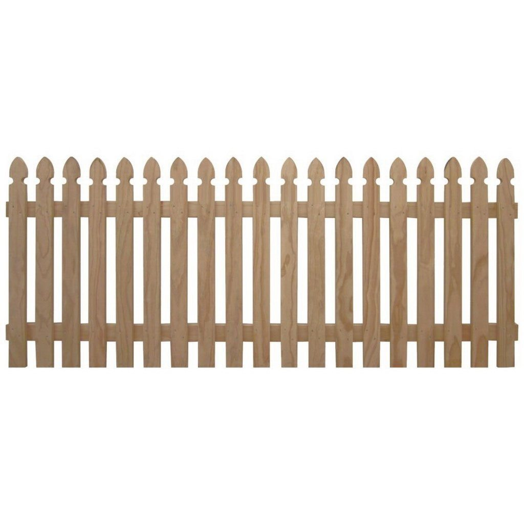1200 x 900mm Gothic Square Fence Picket Panel Treated Pine