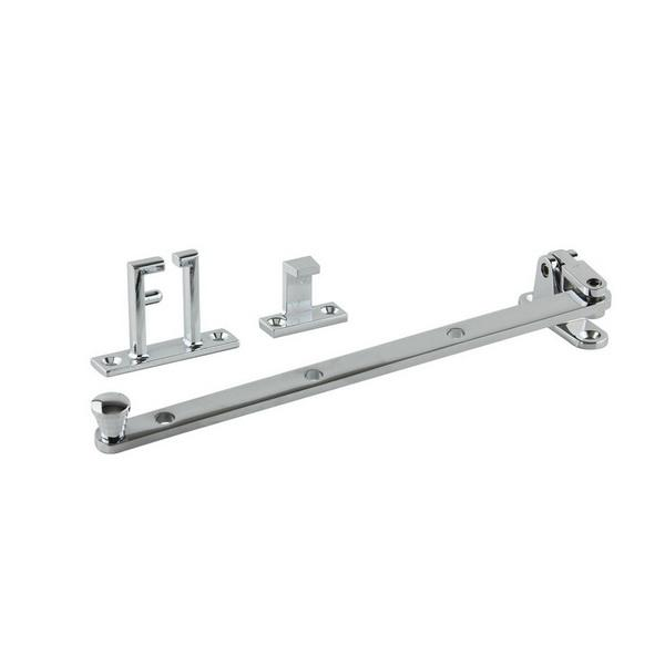 Small Side Hung Window Casement Stay 240mm Chrome