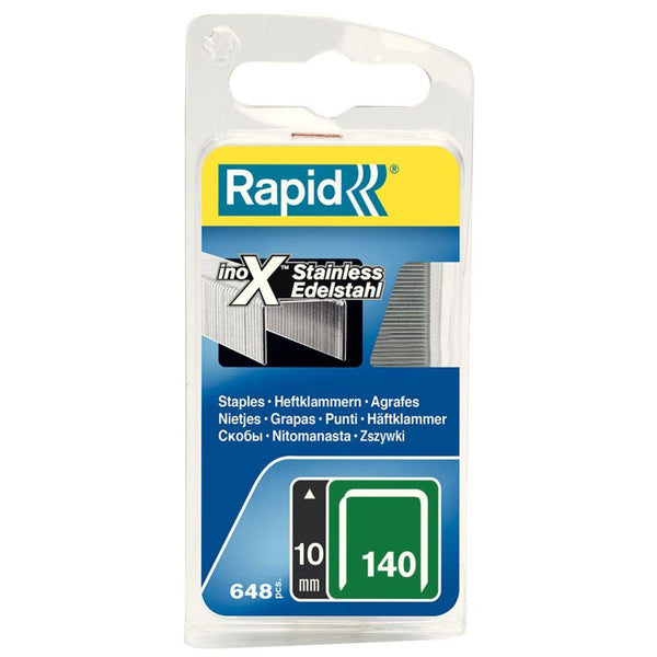 Rapid|Staple Flat Wire|140/10 10mm Stainless Steel|648 pack ...