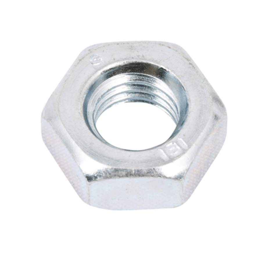5mm Zinc Plated Half Hex Nut 25 pack