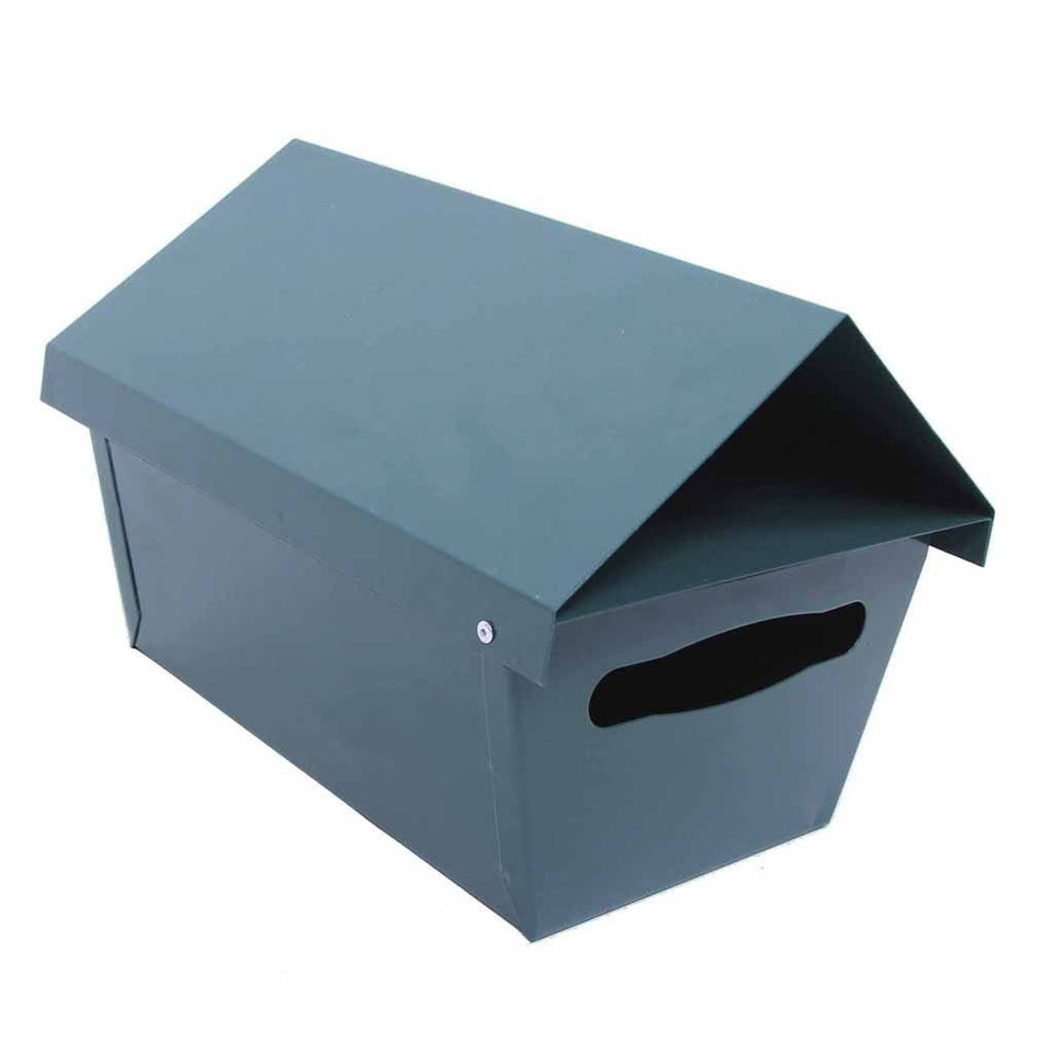 Traditional Steel Angled Top Letterbox High Gloss