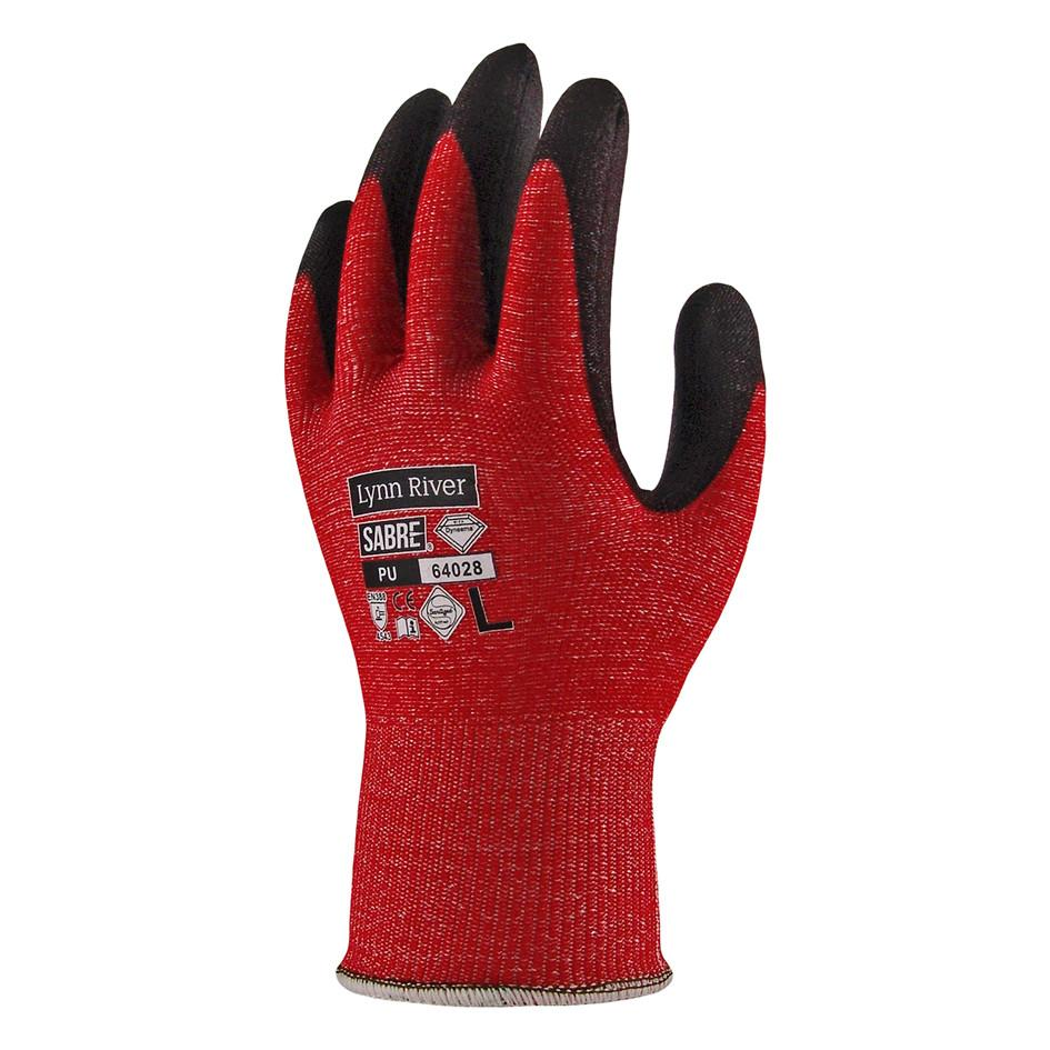 Dyneema/Polyurethane Sabre 528 Cut Resistant Gloves Red/Black