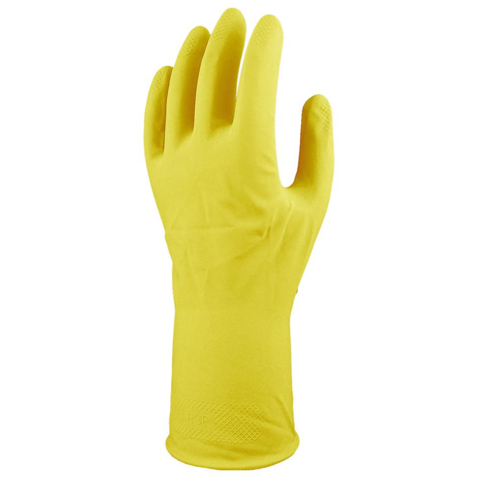 Cotton Flocklined Household Gloves Yellow