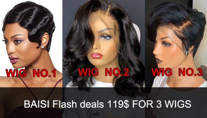 BAISI Flash deals 119$ FOR 3 WIGS