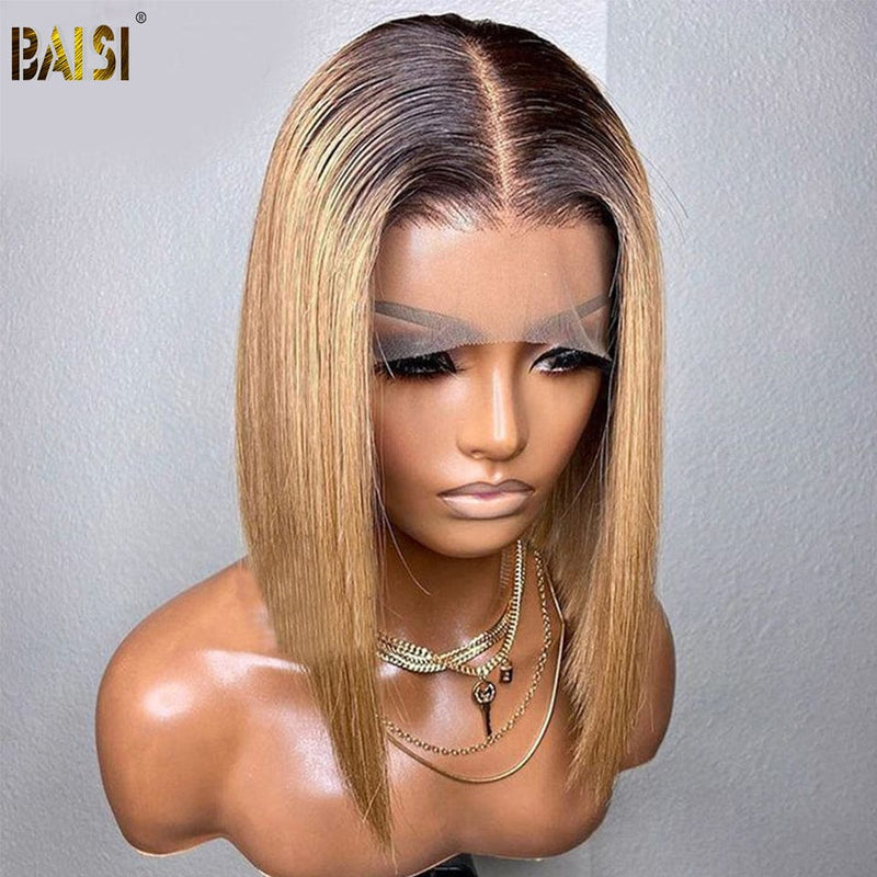 BAISI 8A Hair Weave Brazilian Virgin Hair Water Wave 1B/27# & 1B/30# And Natural Color 6 Bundles 150G