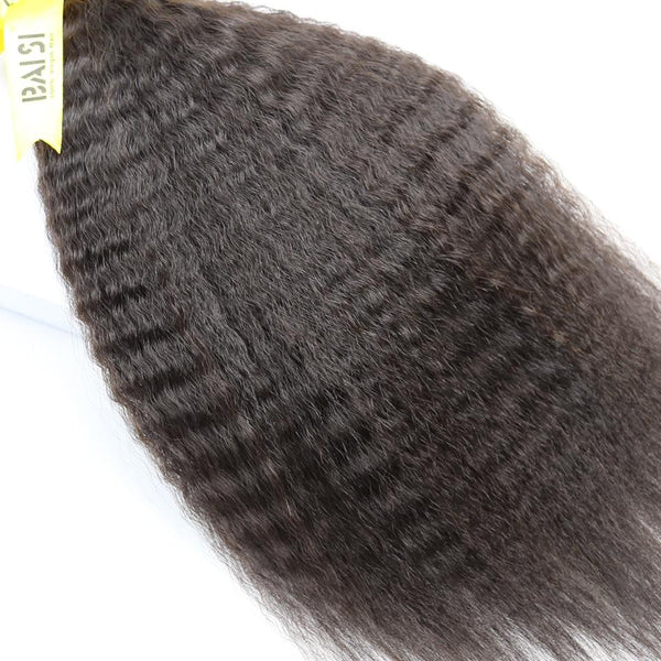 BAISI 10A Hair Weave Peruvian Virgin Hair kinky Straight