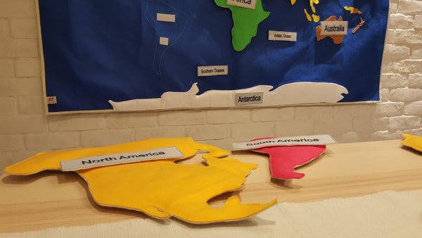 World Map for Children| Montessori Felt World Map| Montessori Teaching Material in Learning About The World