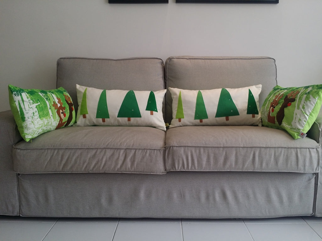 Christmas Tree Pillow, Modern Home, Handmade Designer pillow, Gift Set