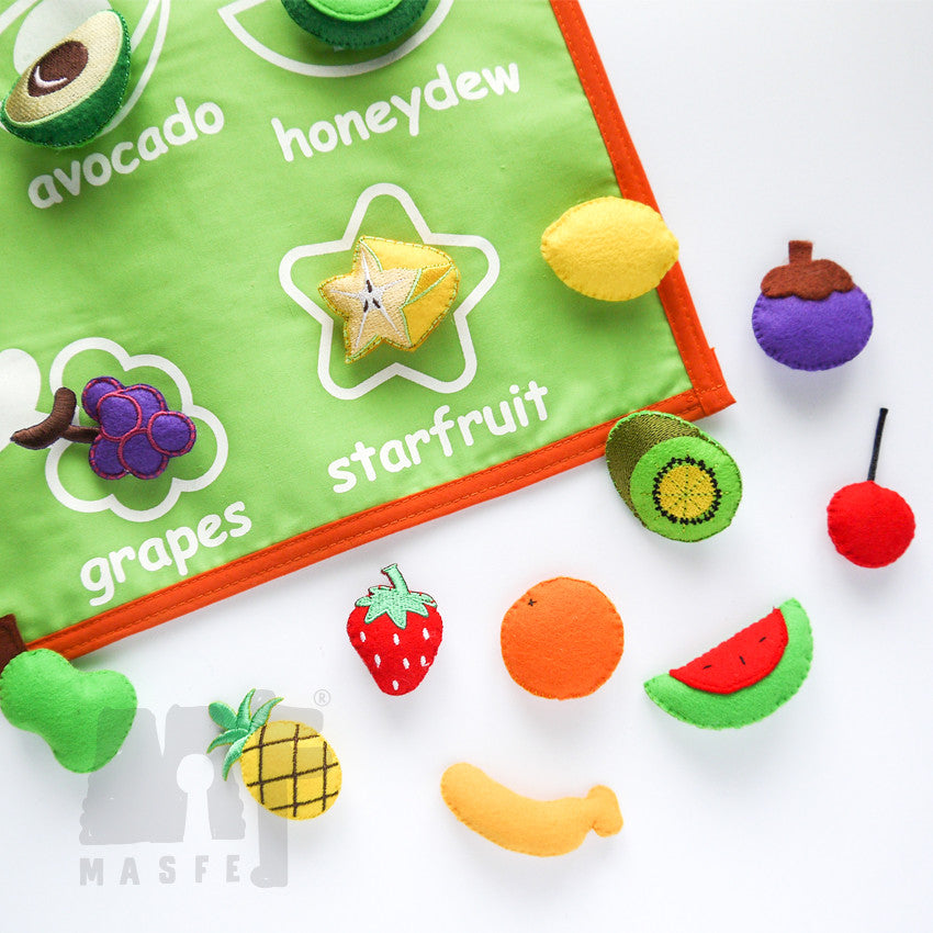 Handmade Fruit Chart, Fruit Chart for Kids, Pretend Play Fruit Chart